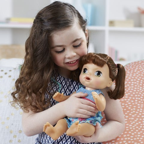 Boneca Baby Alive Sweet Tears Baby Doll Brunette com Roupa Azul (with Blue Outfit) - CD