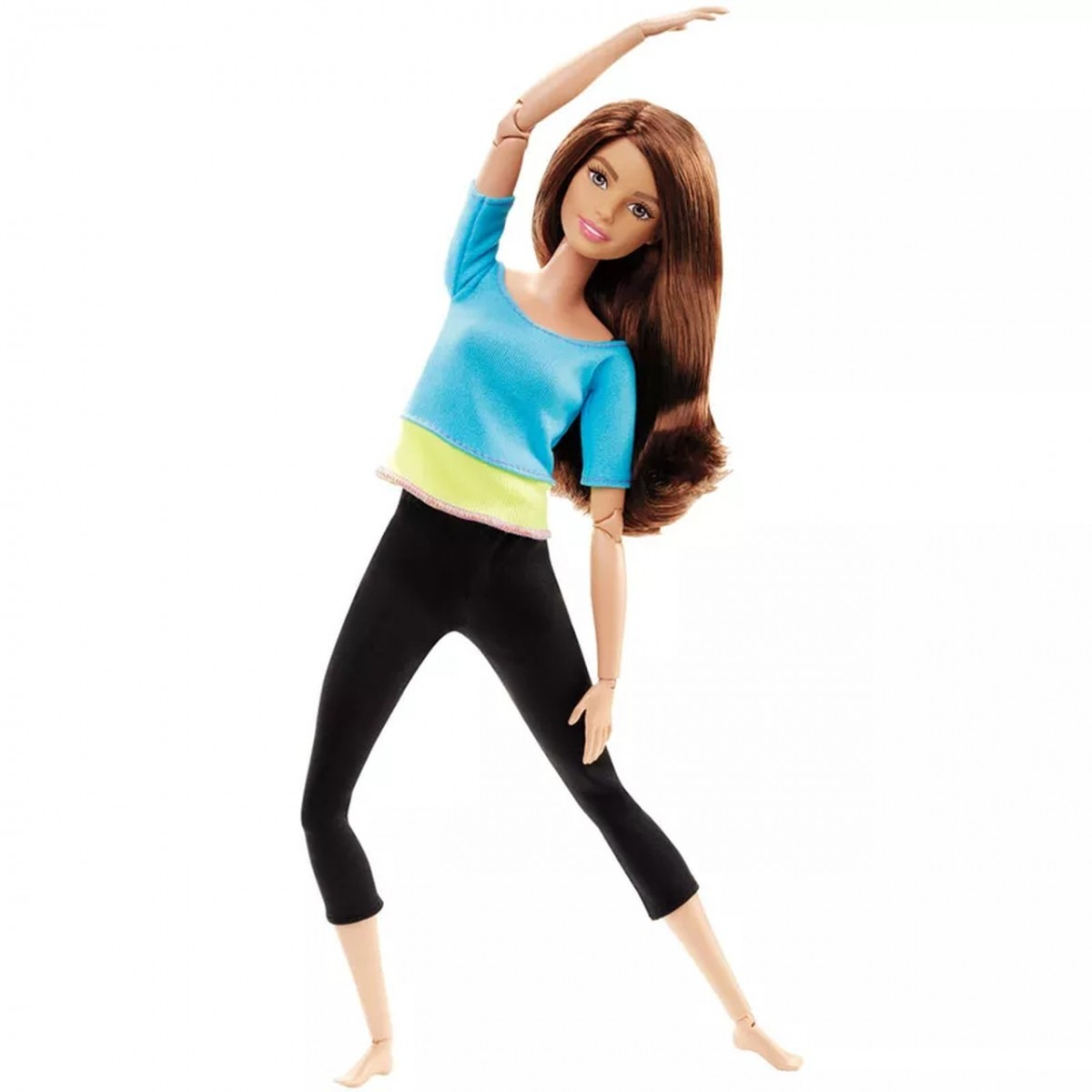Boneca Barbie Articulada: Feita para Mexer Blusa Azul e Verde