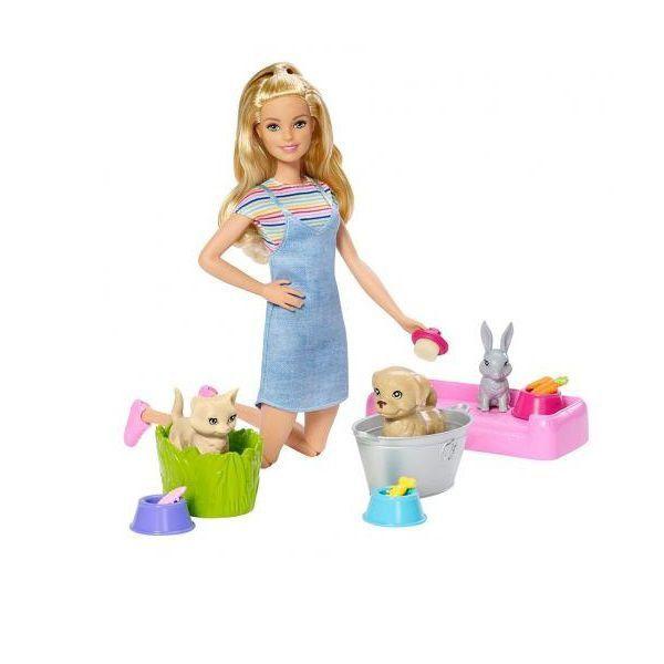 Boneca Barbie: Banho de Cachorrinhos - Mattel