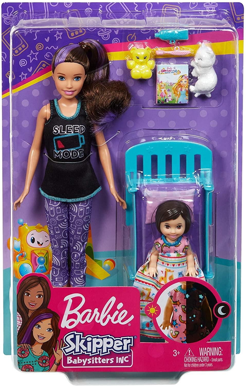 Boneca Barbie: Barbie Babysitters (Skipper) (Sleep Mode) - Mattel