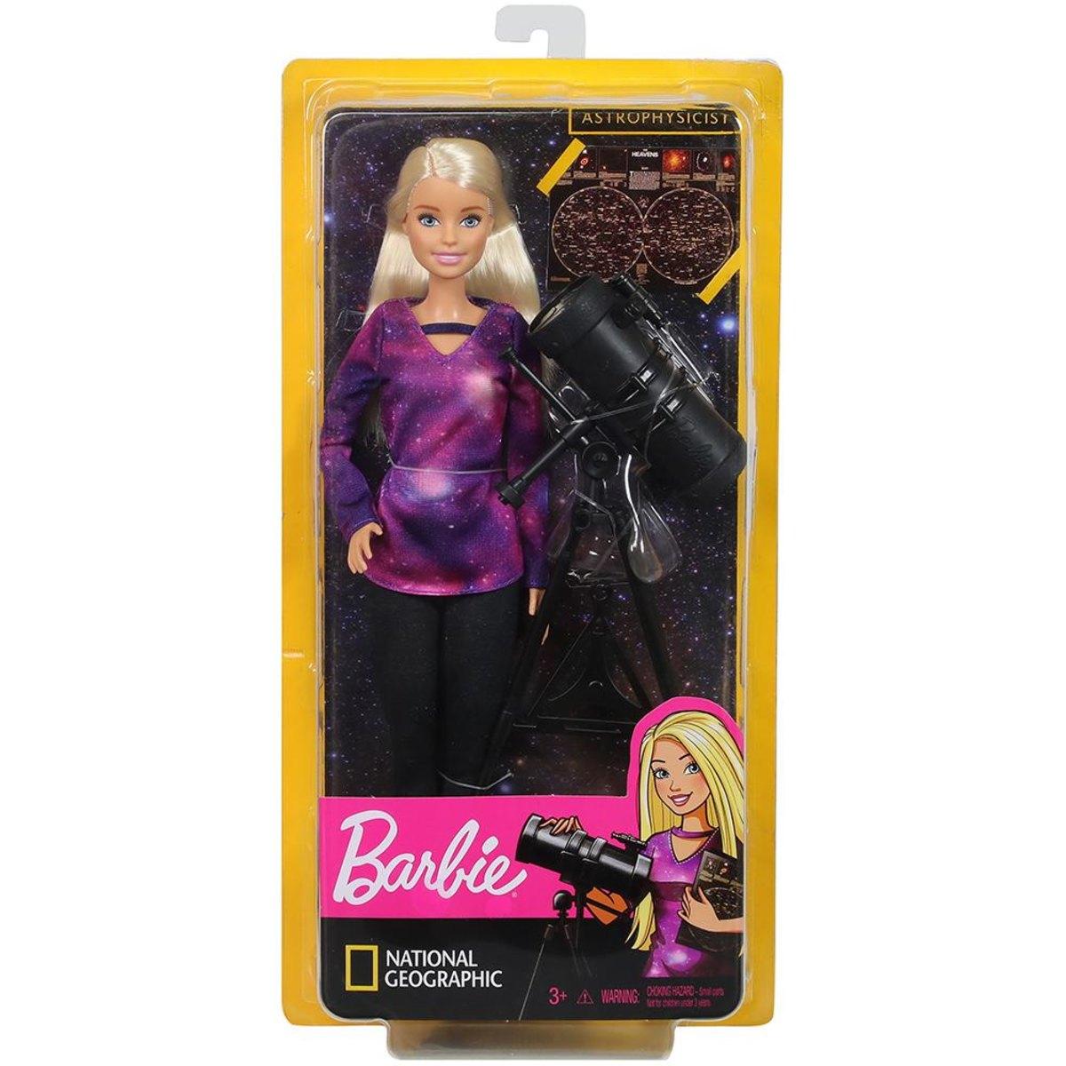 Boneca Barbie: Barbie National Geographic (Astrônoma) - Mattel