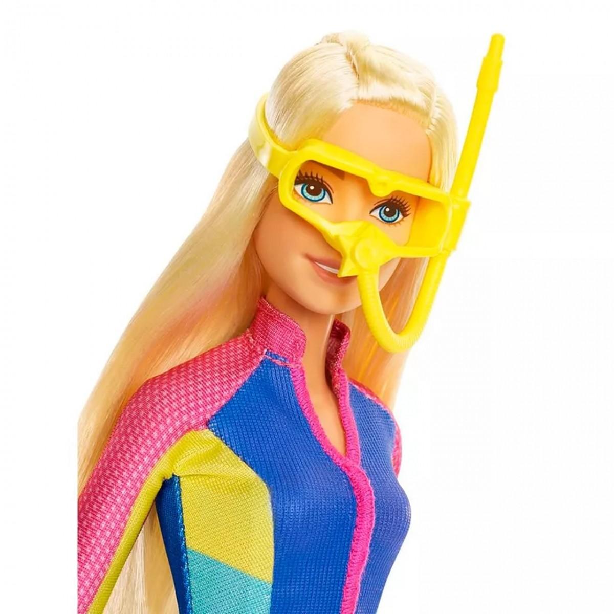 Boneca Barbie e Os Golfinhos Mágicos com Acessórios de Mergulho