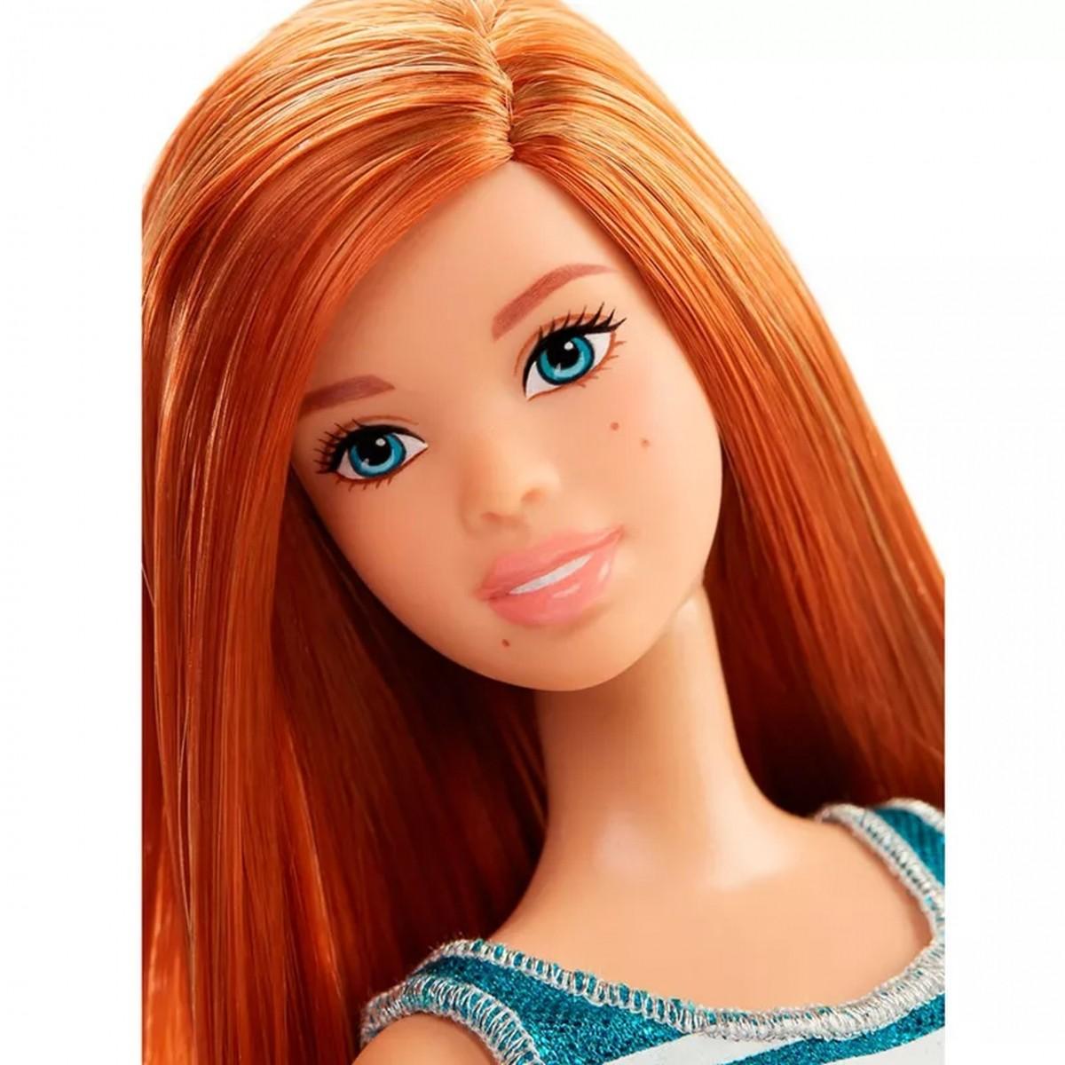Boneca Barbie Fashionista (Ruiva de Vestido)