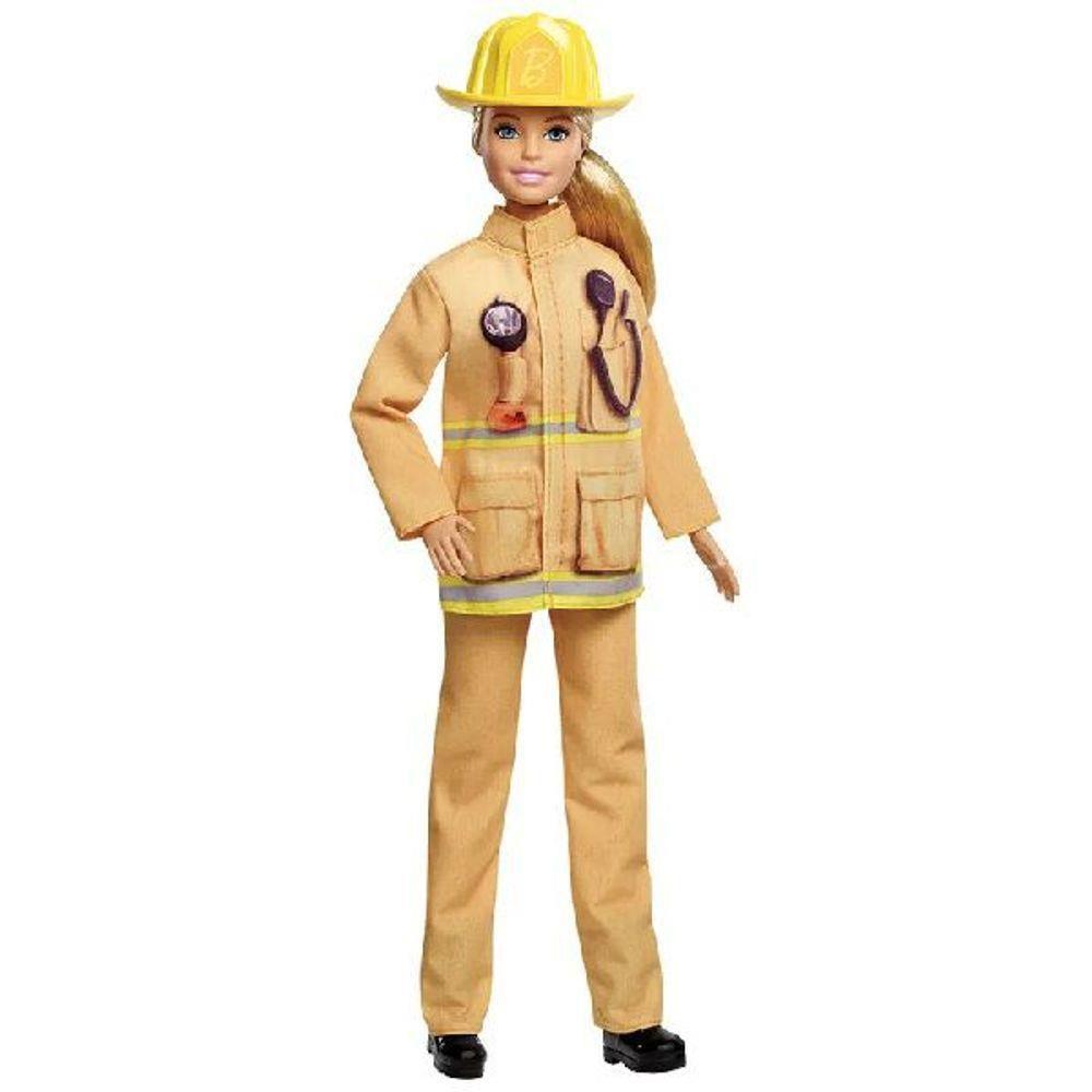 Boneca Barbie Profissões: Bombeiro (Aniversário 60 Anos) - Mattel