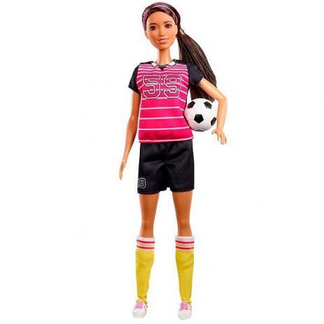 Boneca Barbie Profissões: Jogadora De Futebol (Aniversário 60 Anos) - Mattel