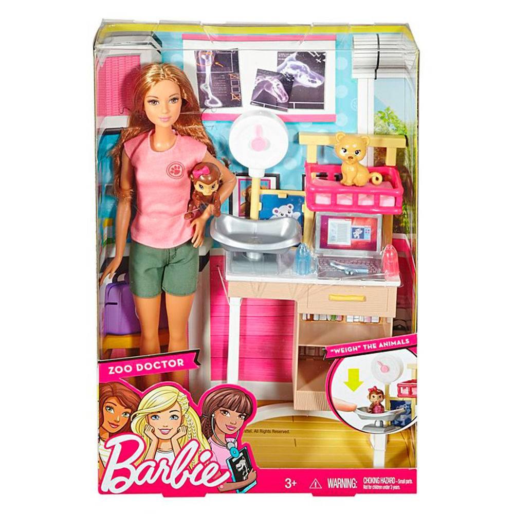 Boneca Barbie Veterinária do Zoológico