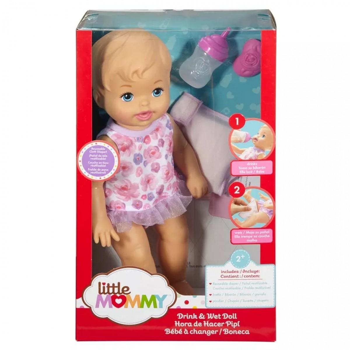 Boneca Bebê: Faz Xixi Deluxe Little Mommy