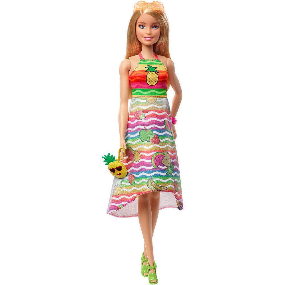 Boneca Barbie Crayola: Surpresa de Frutas - Mattel