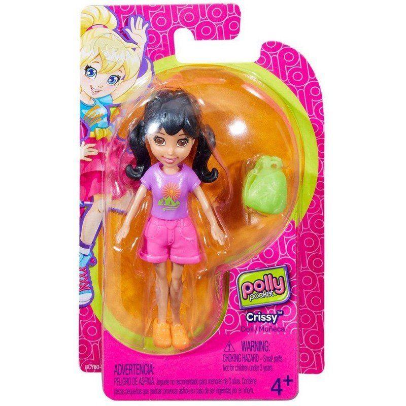 Boneca Crissy (Mochila Verde): Polly Pocket - Mattel
