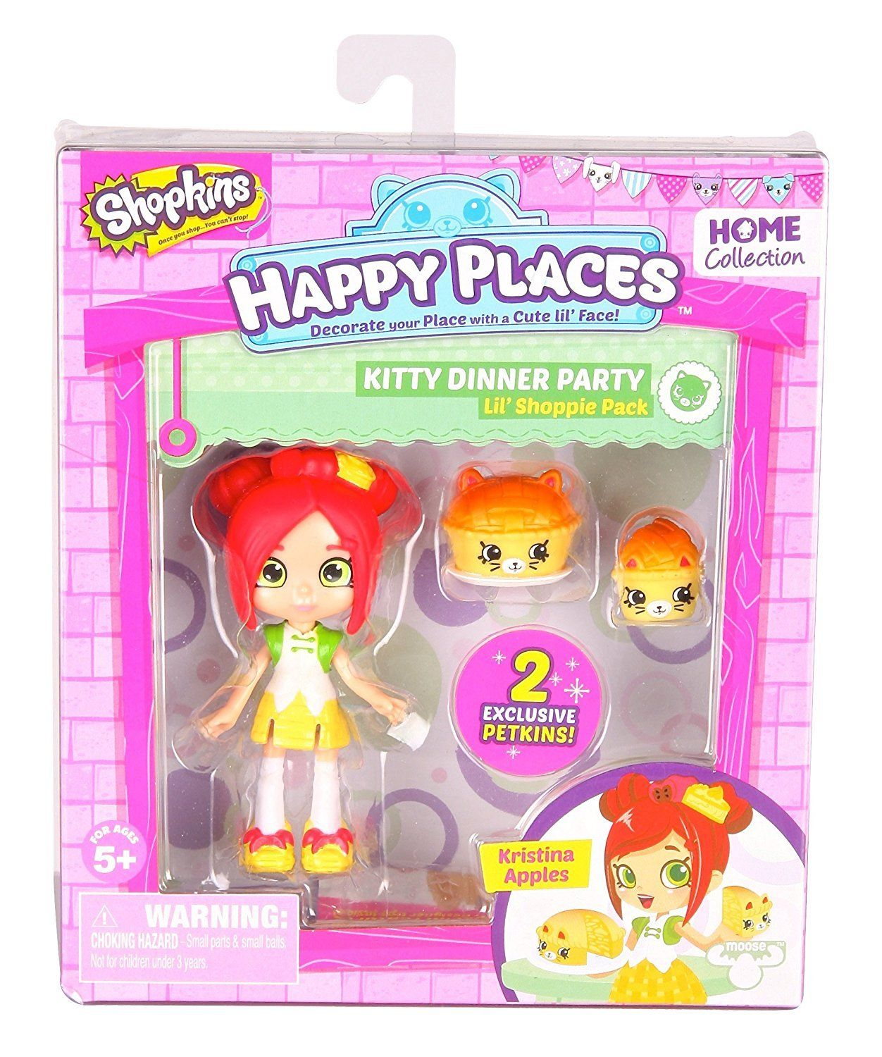Boneca Kristina Maçã: Shopkins Happy Places (Kit M