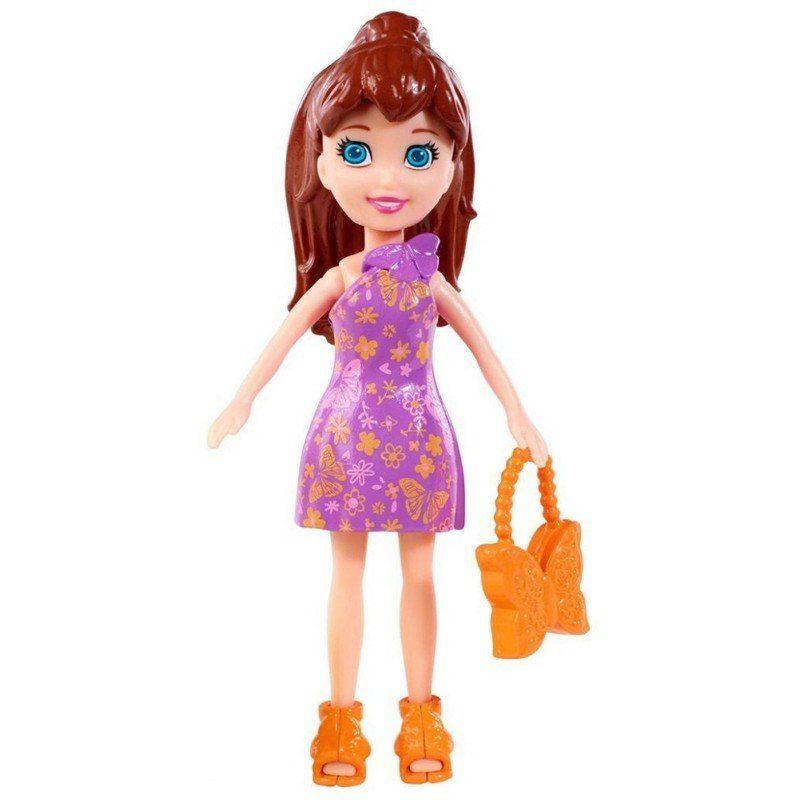 Boneca Lila (Bolsa Borboleta): Polly Pocket - Mattel