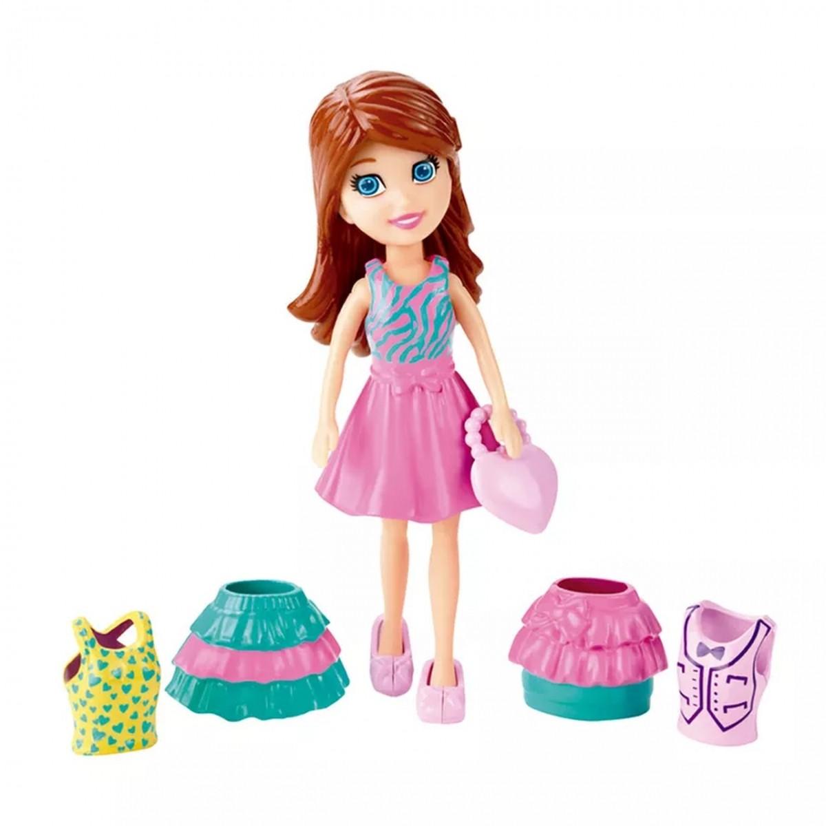 Boneca Lila com Vestido: Polly Pocket