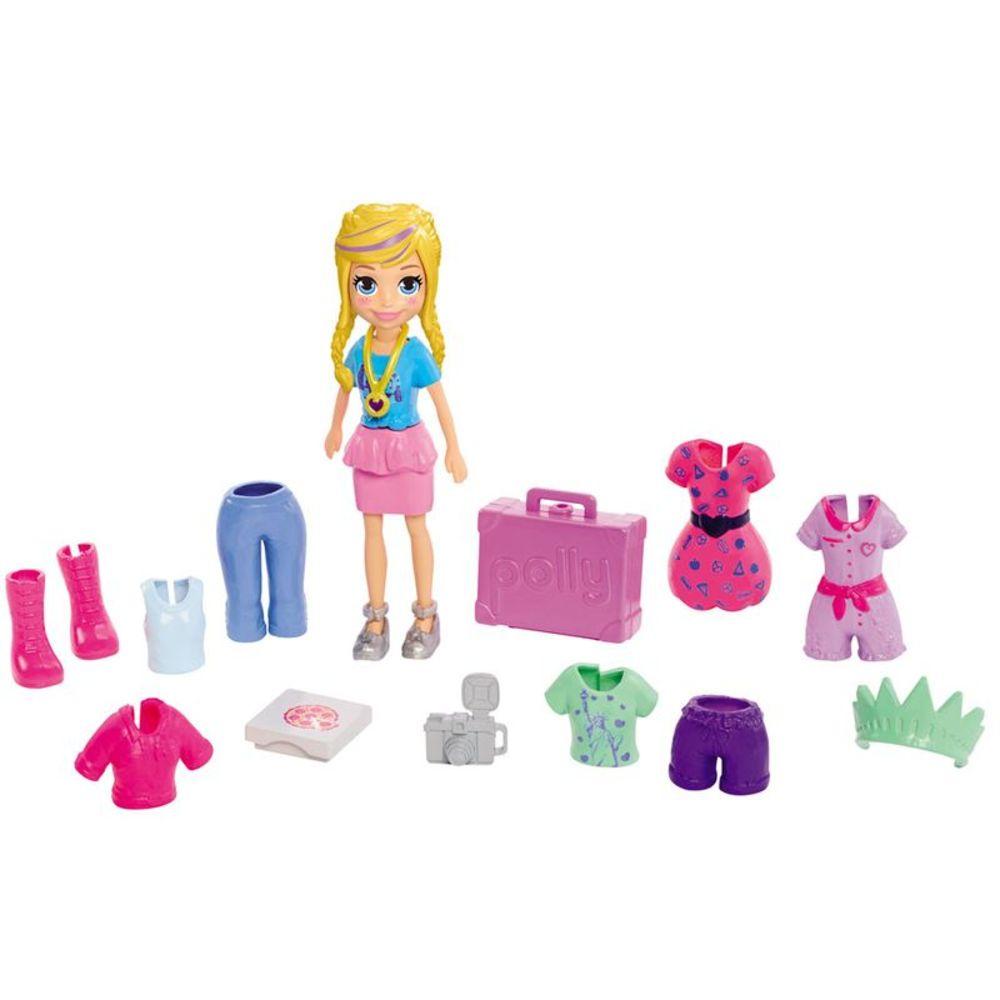 Boneca Lila Kit Fashion de Viagem: Polly Pocket - Mattel