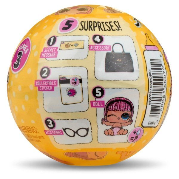 Boneca LOL Surprise: Lil Sisters Series 3 (Sortido)