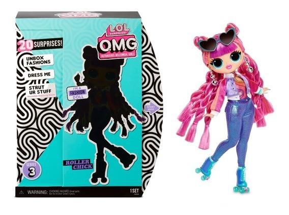 Boneca LOL Surprise O.M.G: Roller Chick - Candide  - Toyshow Geek e Colecionáveis Tudo em Marvel DC Netflix Vídeo Games