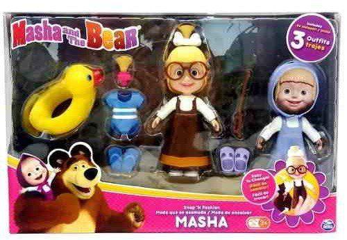 Boneca Masha 6' com 3 Roupas e Acessórios(Praia): Masha e o Urso - Sunny
