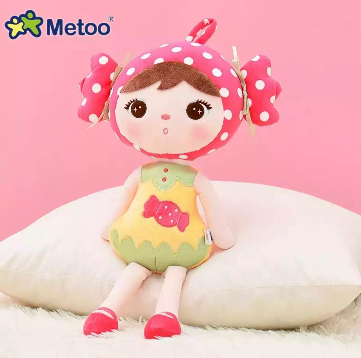 Boneca Metoo Docinho 45 cm Febre Berço de Bebê Decoração