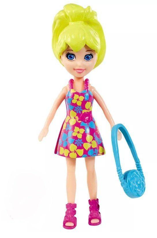 Boneca Polly (Bolsa Azul): Polly Pocket - Mattel