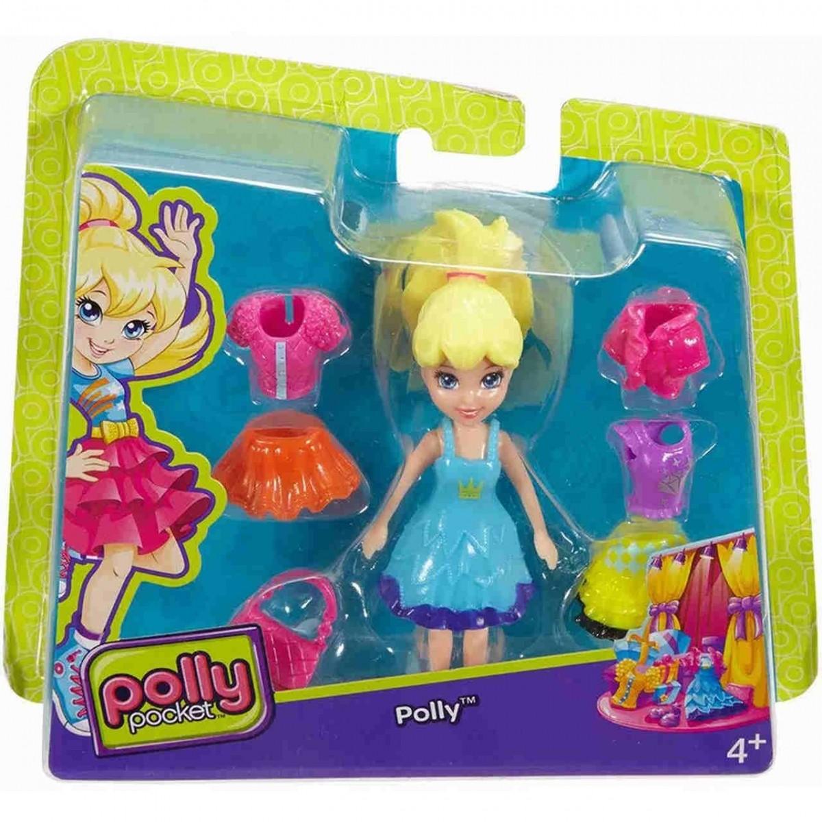 Boneca Polly com Vestido Azul: Polly Pocket