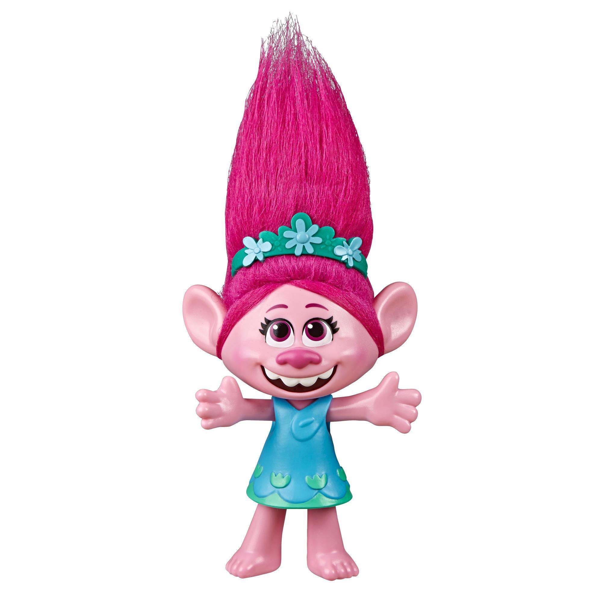 Boneca Poppy Cantora Pop (Fala e Canta): Trolls 2 (World Tour) - Hasbro