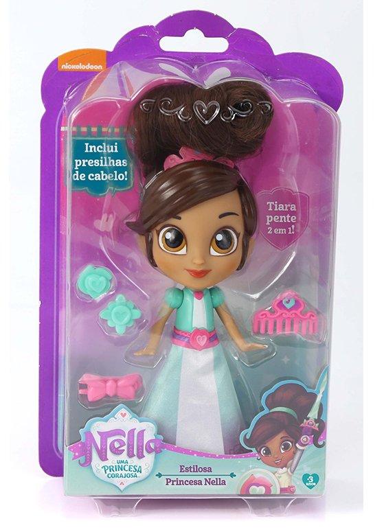 Boneca Princesa Nella Estilosa - DTC