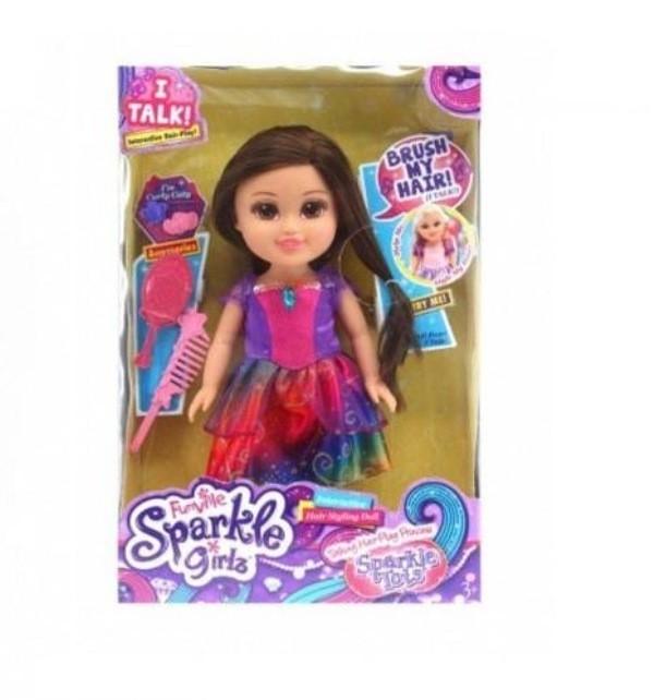 Boneca Princesa: Sparkle Girlz com Vestido Roxo