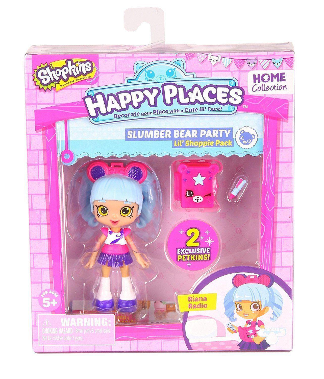 Boneca Riana Rádio: Shopkins Happy Places (Kit Min