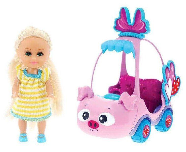Boneca Sparkle Girlz: Carro Mini Sparkles (Rosa) - DTC
