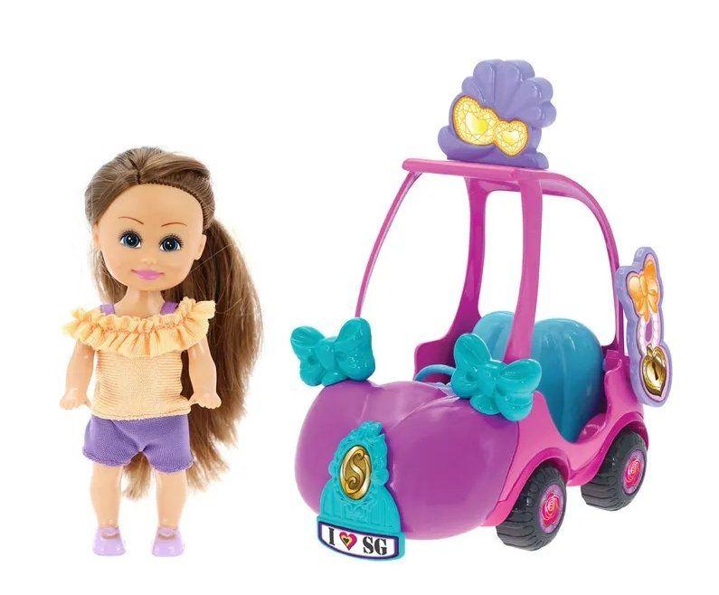 Boneca Sparkle Girlz: Carro Mini Sparkles (Rosa e Pink) - DTC