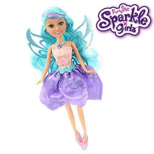 Boneca Sparkle Girlz: Fada das Flores Cone (Cabelo Azul) - DTC