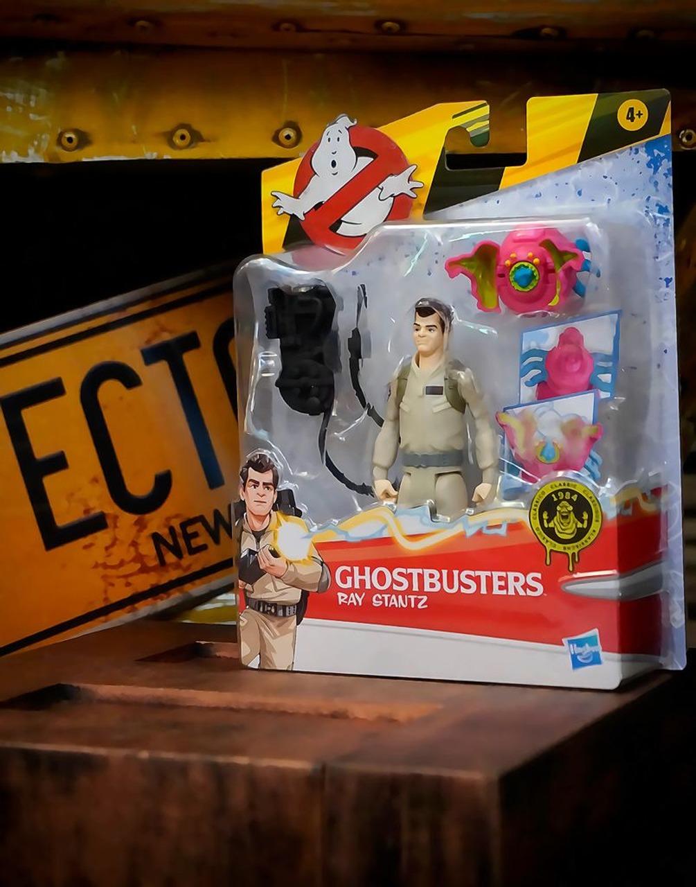 Boneco Action Figure Ray Stantz e Fantasma Rosa Os Caça Fantasmas Ghostbusters E9544 - Hasbro
