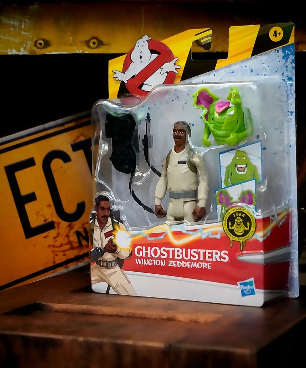 Boneco Action Figure Winston Zeddemore e Fantasma Geleia Slime Os Caça Fantasmas Ghostbusters E9544 - Hasbro