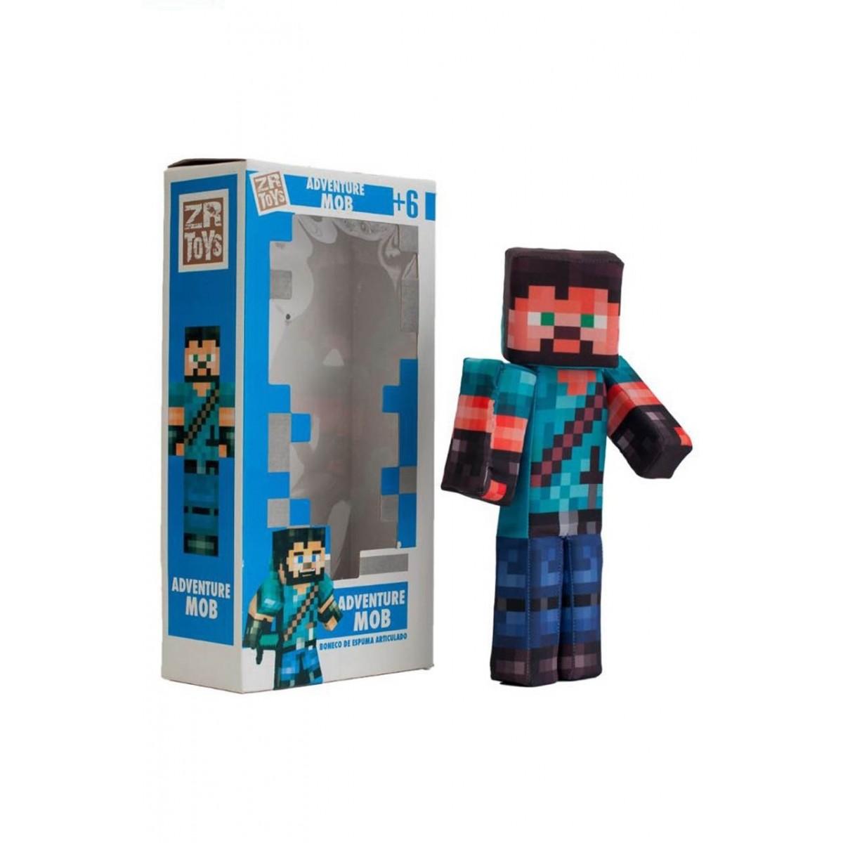 Boneco Adventure Mob: Minecraft - ZR Toys