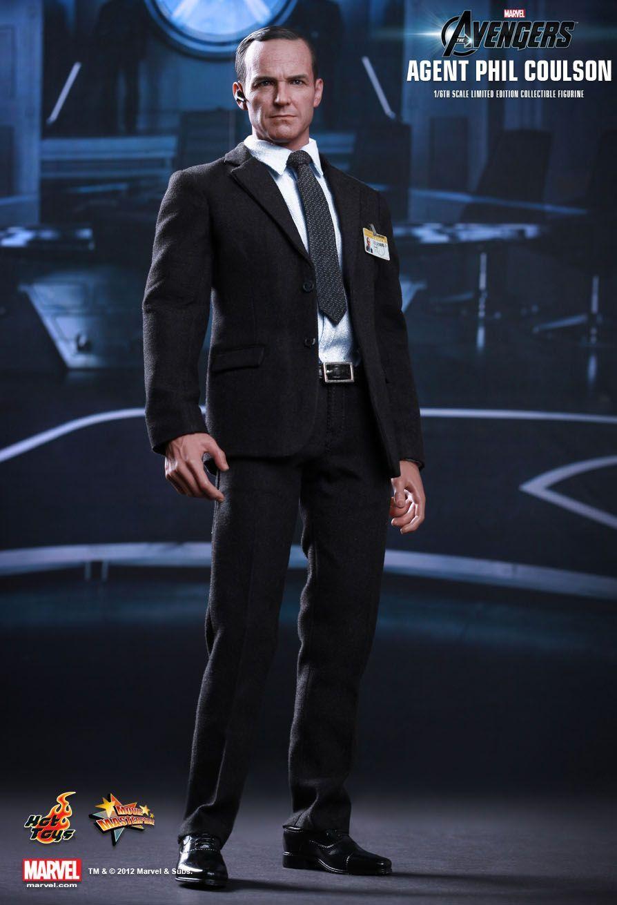 Action Figure Agent Phil Coulson: Os Vingadores (The Avengers) Escala 1/6 (MMS189) Boneco Colecionável - Hot Toys