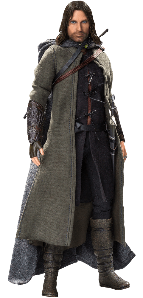 Action Figure Aragorn (Deluxe): O Senhor dos Anéis As Duas Torres (The Lord of the Rings The Two Towers) Escala1/8 Boneco Colecionável - Star Ace
