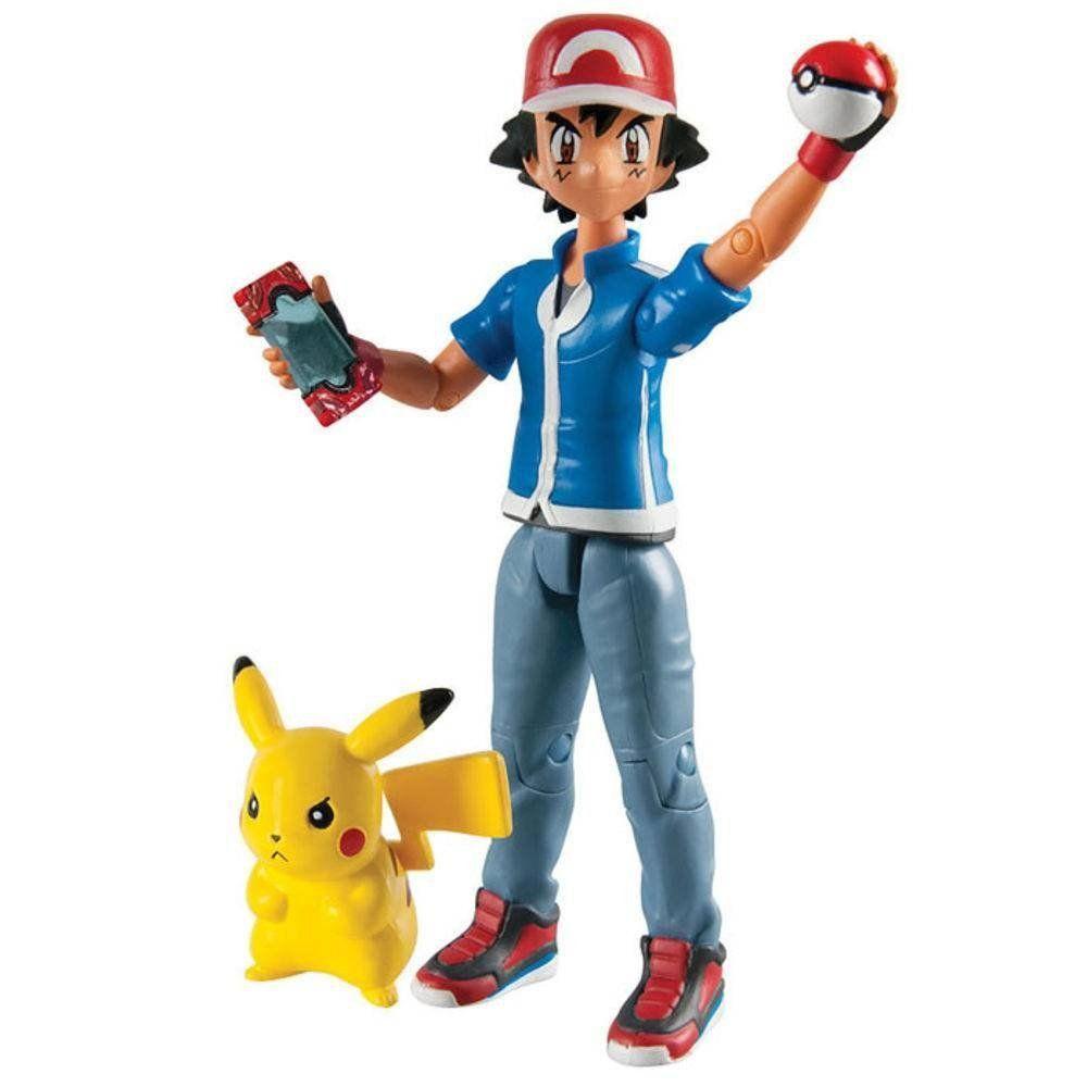 Boneco Ash & Pikachu: Pokémon - Tomy