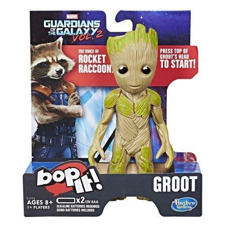 Boneco Baby Groot Bop It: Guardiões da Galáxia Vol. 2 - Hasbro