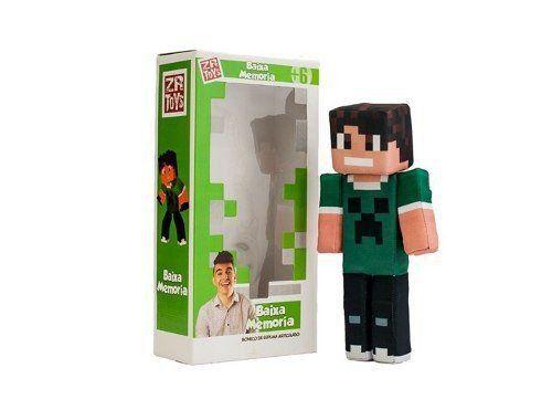 Boneco Baixa Memoria: Minecraft - ZR Toys