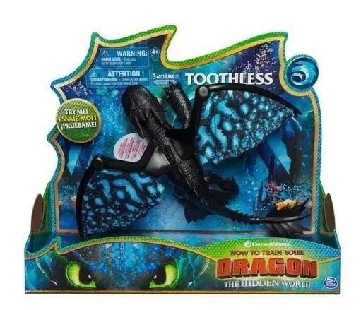 Boneco Banguela (Toothless) Deluxe: Como Treinar o seu Dragão 3 - Sunny