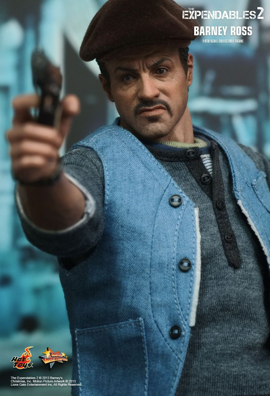 Action Figure Barney Ross: Os Mercenários 2 (The Expendables 2) Escala 1/6 (MMS194) - Hot Toys