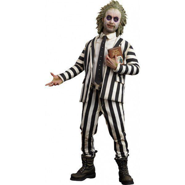Boneco Beetlejuice Striped Suit: Os Fantasmas se Divertem Escala 1/6 - Sideshow