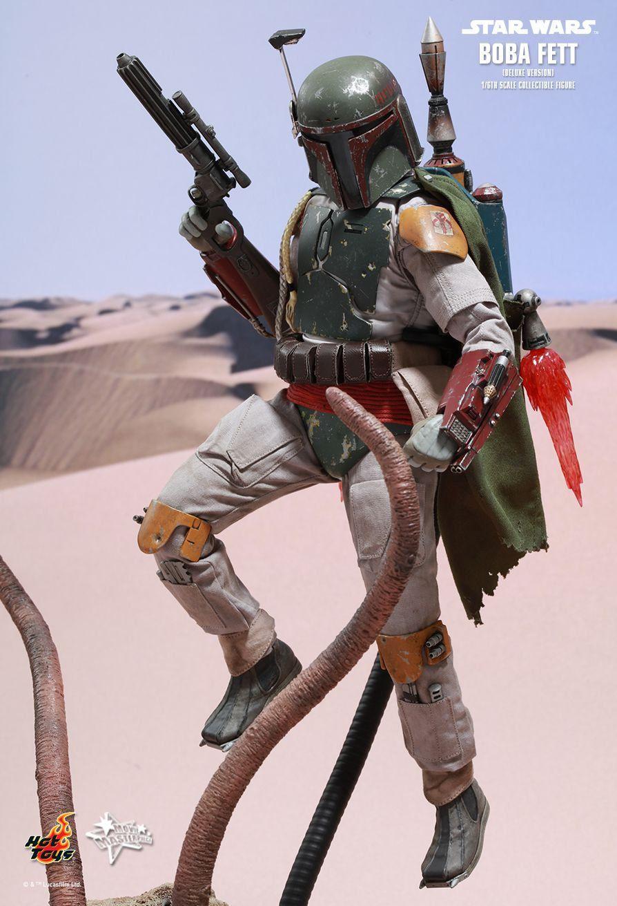 Action Figure Boba Fett (Deluxe Version):Star Wars O Retorno de Jedi (Return of the Jedi) Escala 1/6 (MMS313) - Hot Toys