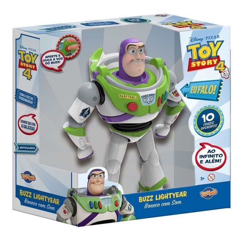 Boneco Buzz Lightyear (com Som): Toy Story - Toyng