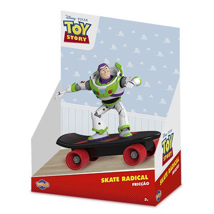 Boneco Buzz Lightyear Skate Radical: Toy Story (Disney) - Toyng