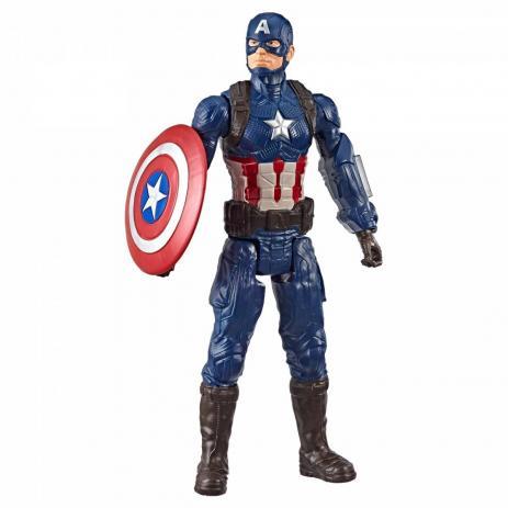 Boneco Capitão América (Captain America) (Titan Hero Series): Vingadores Ultimato (Avengers Endgame) - Hasbro