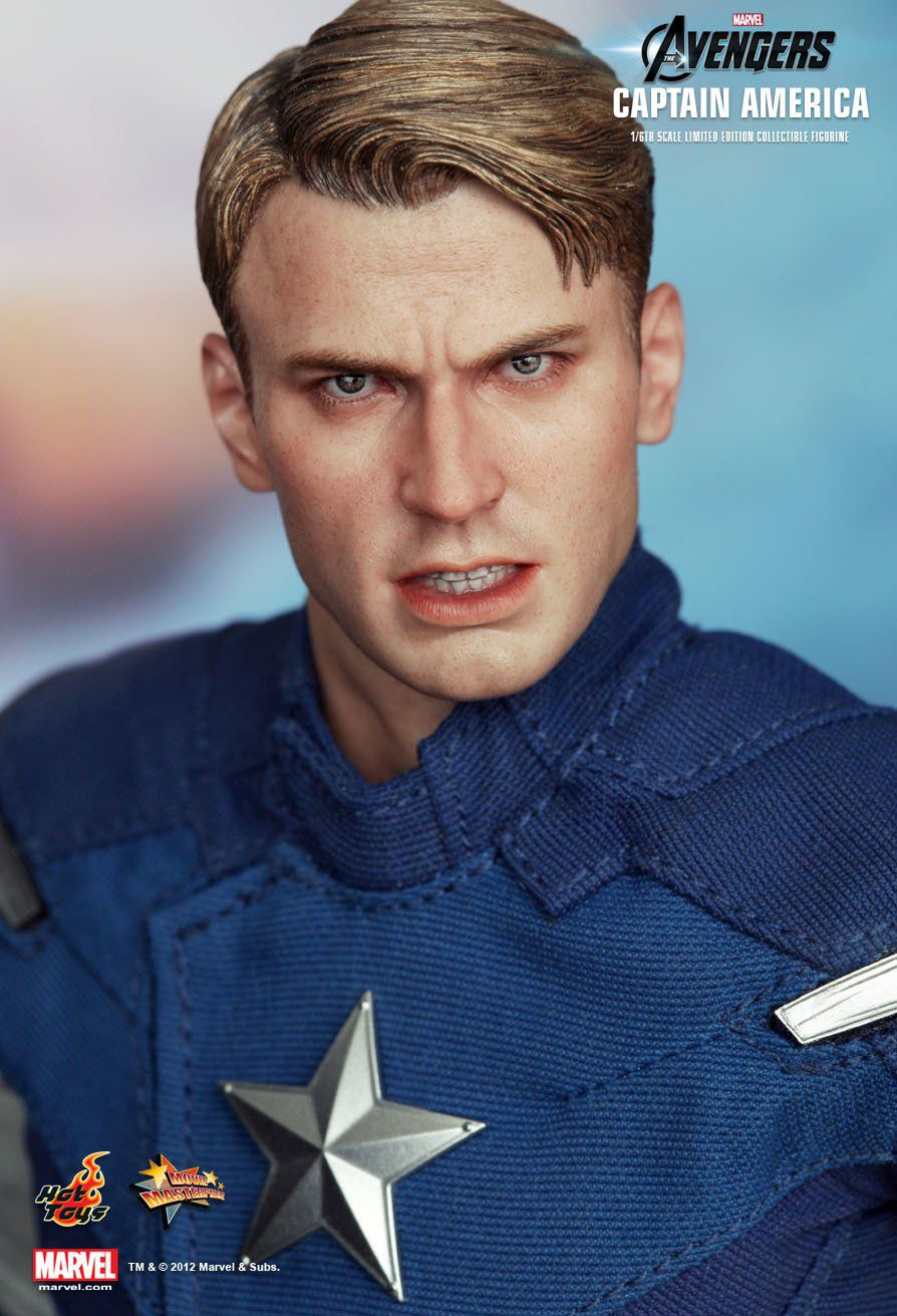 Action Figure Capitão América (Captain America): Vingadores (The Avengers) Boneco Colecionável Escala 1/6 (MMS174) - Hot Toys