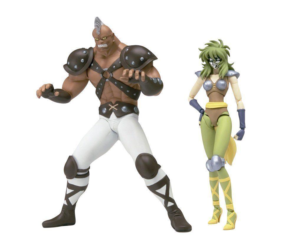 Boneco Cavaleiros do Zodíaco - Cav. de Prata - Shina + Cassius