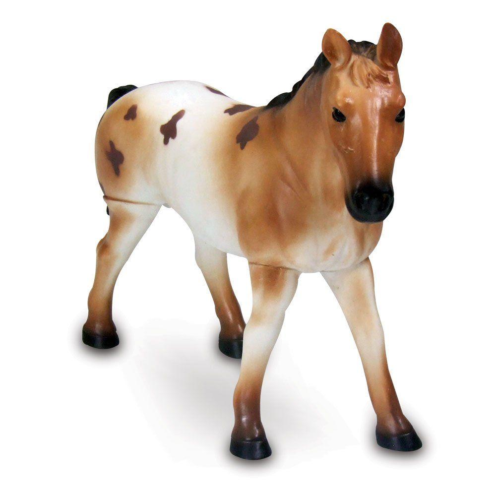 Boneco Cavalo (Marrom e Branco): Bicho Mundi - DTC