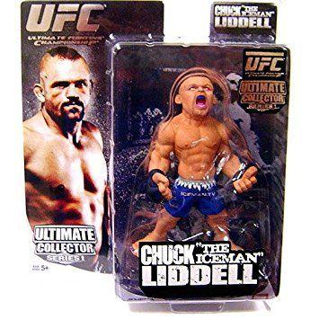 Boneco Chuck Liddell (The Iceman) Short Branco: UFC Ultimate Collector