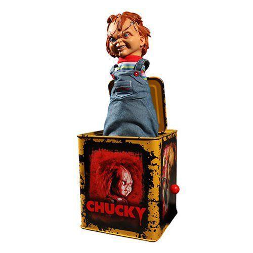 Boneco Chucky (Burst-A-Box): Brinquedo Assassino (Child's Play) - Mezco